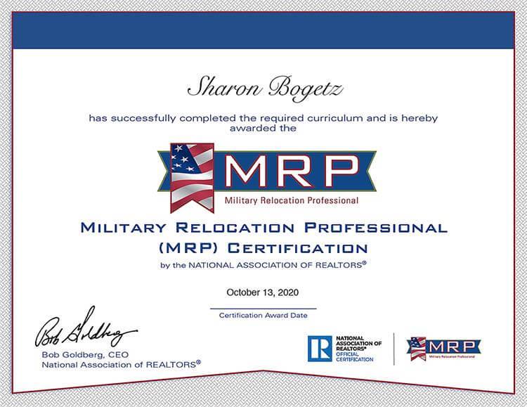 military housing assistance   MRP Sharon Bogetz